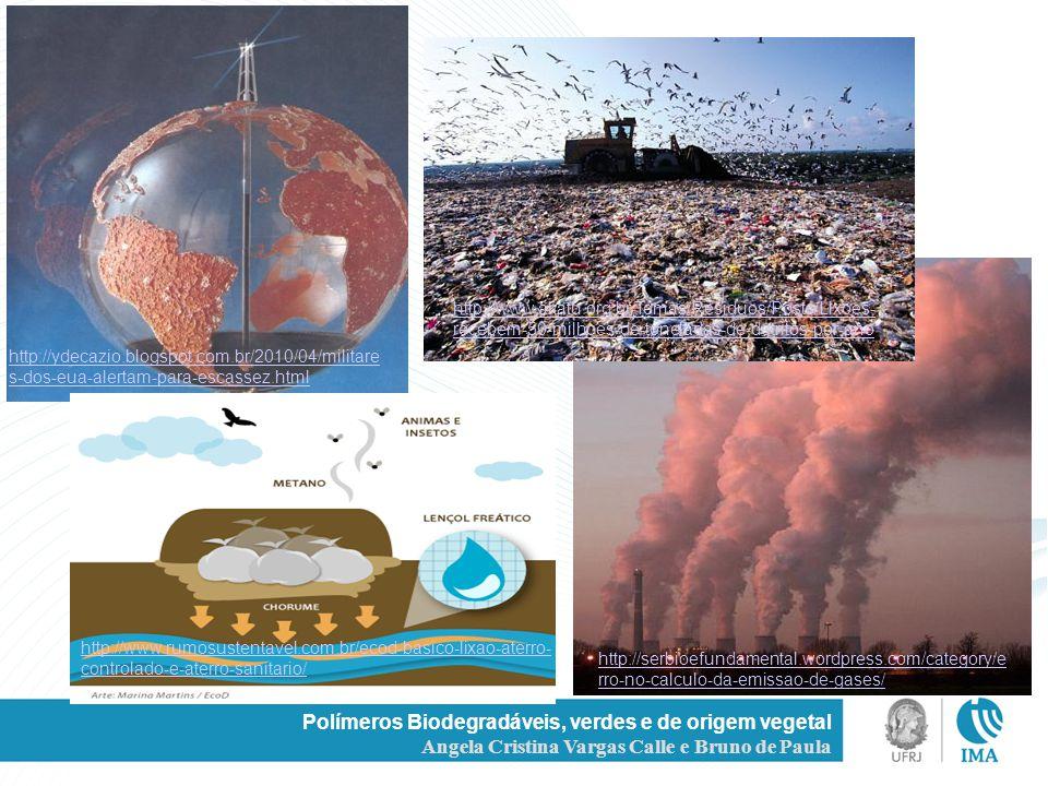 Polímeros Biodegradáveis, verdes e de origem vegetal Angela Cristina Vargas Calle e Bruno de Paula http://ydecazio.blogspot.com.br/2010/04/militare s-