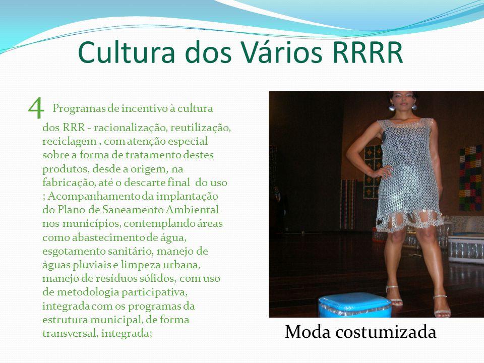 Cultura dos Vários RRRR 4 Programas de incentivo à cultura dos RRR - racionalização, reutilização, reciclagem, com atenção especial sobre a forma de t
