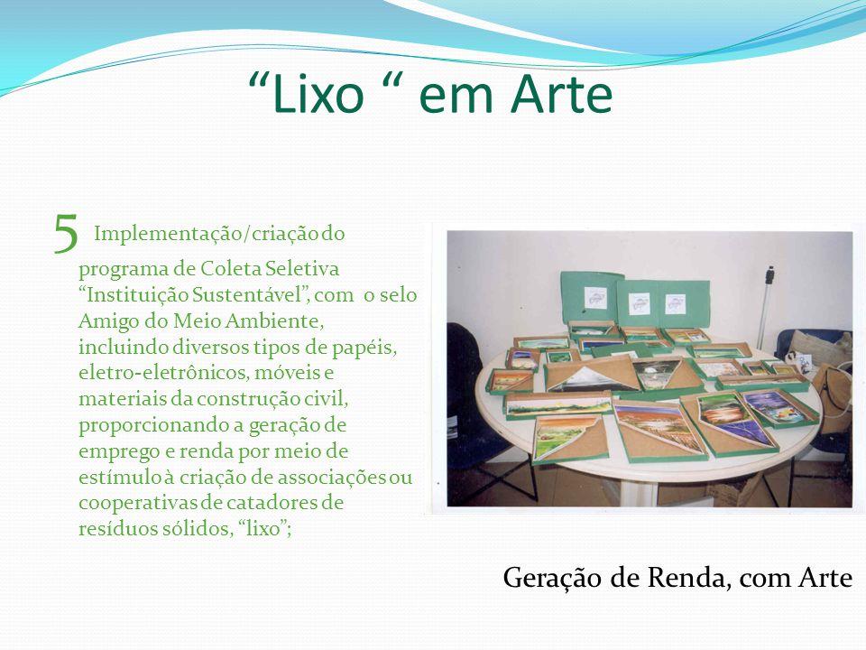 6 Envolvimento e apoio aos diferentes segmentos da sociedade, como as ONGs e entidades do terceiro setor, nos programas de recuperação e manejo ambiental de fontes, lagoas e rios da Bahia; Manejo dos Recursos Naturais Agua limpa = Vida