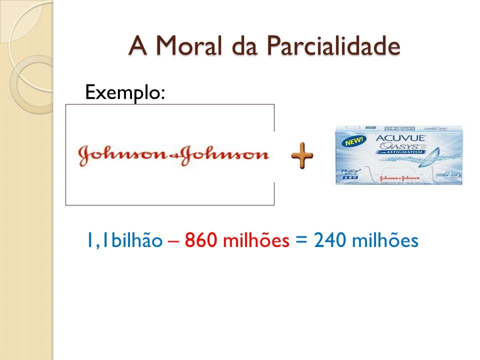 A Moral da Parcialidade Exemplo: 1,1bilhão – 860 milhões = 240 milhões