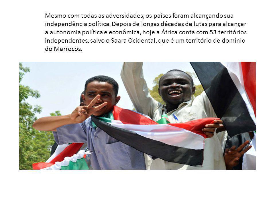 Mesmo com todas as adversidades, os países foram alcançando sua independência política. Depois de longas décadas de lutas para alcançar a autonomia po