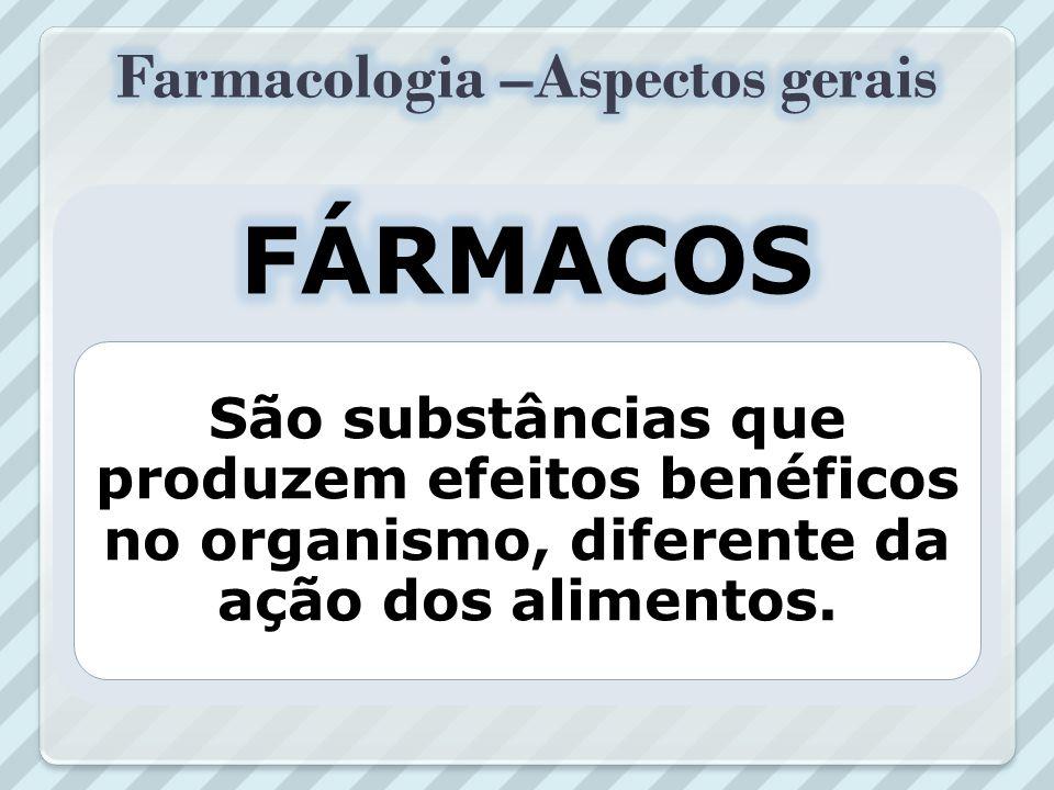 FARMACOLOGIA Ciência que estuda a interação entre uma substância química e um organismo vivo ou sistema biológico, resultando em um efeito maléfico (t