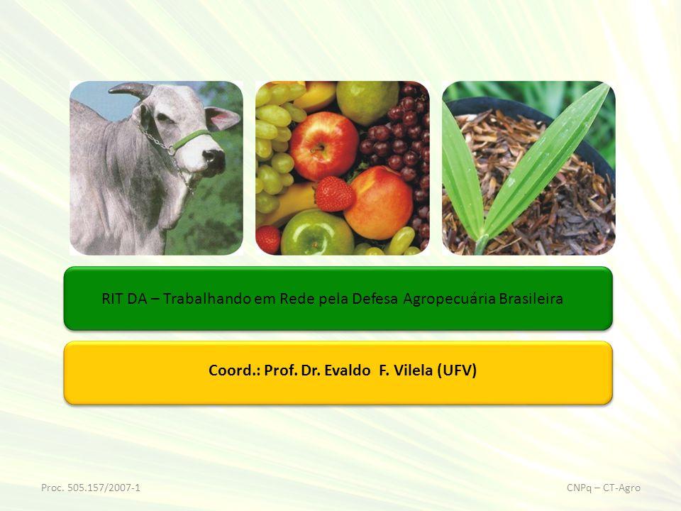 RIT DA – Trabalhando em Rede pela Defesa Agropecuária Brasileira Proc. 505.157/2007-1CNPq – CT-Agro Coord.: Prof. Dr. Evaldo F. Vilela (UFV)