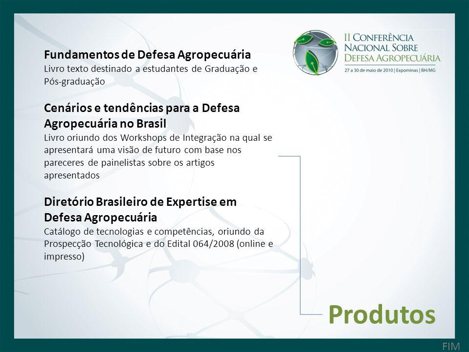 Produtos Fundamentos de Defesa Agropecuária Livro texto destinado a estudantes de Graduação e Pós-graduação Cenários e tendências para a Defesa Agrope