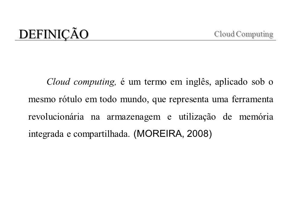 Cloud computing, é um termo em inglês, aplicado sob o mesmo rótulo em todo mundo, que representa uma ferramenta revolucionária na armazenagem e utiliz