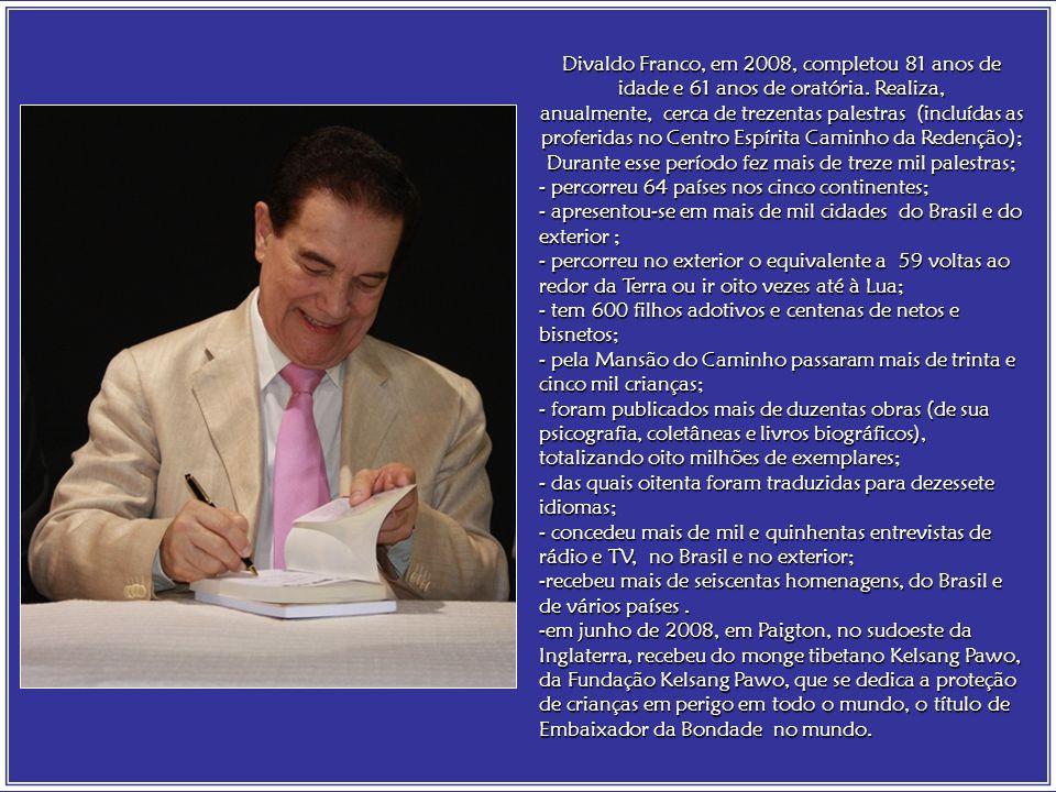 Joanna de Ângelis realiza, através da mediunidade de Divaldo Franco, elevada programação espiritual, de caráter educativo e evangélico, concretizando