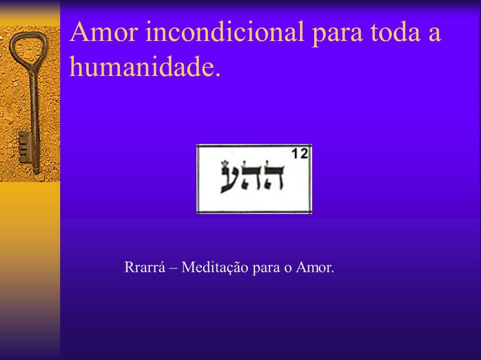 Amor incondicional para toda a humanidade. Rrarrá – Meditação para o Amor.