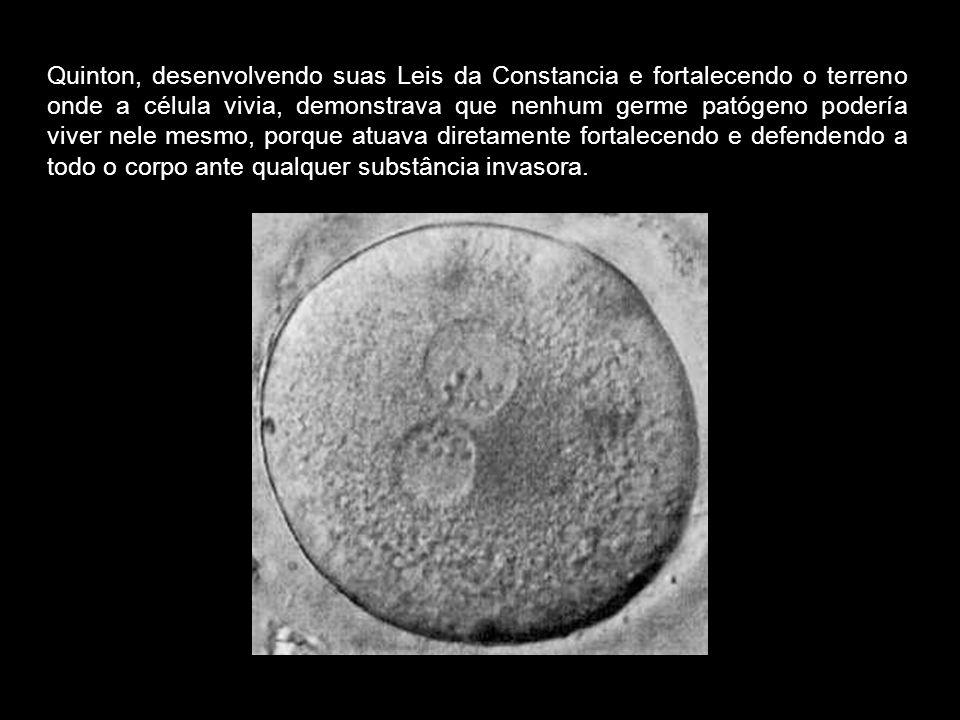 Enquanto o plasma de Quintón fortalecia o organismo em seu conjunto, o sôro de Pasteur, a vacina, tentava aniquilar um tipo de microorganismo concreto