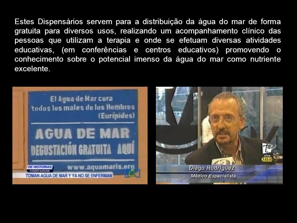 Laureano Alberto Domínguez, grande investigador colombiano, tem ressucitado os Dispensarios de Quinton, emprendendo conversações e alianças em distint