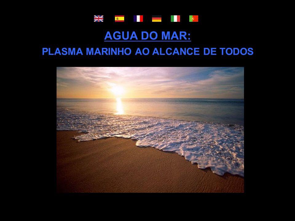 AGUA DO MAR: PLASMA MARINHO AO ALCANCE DE TODOS