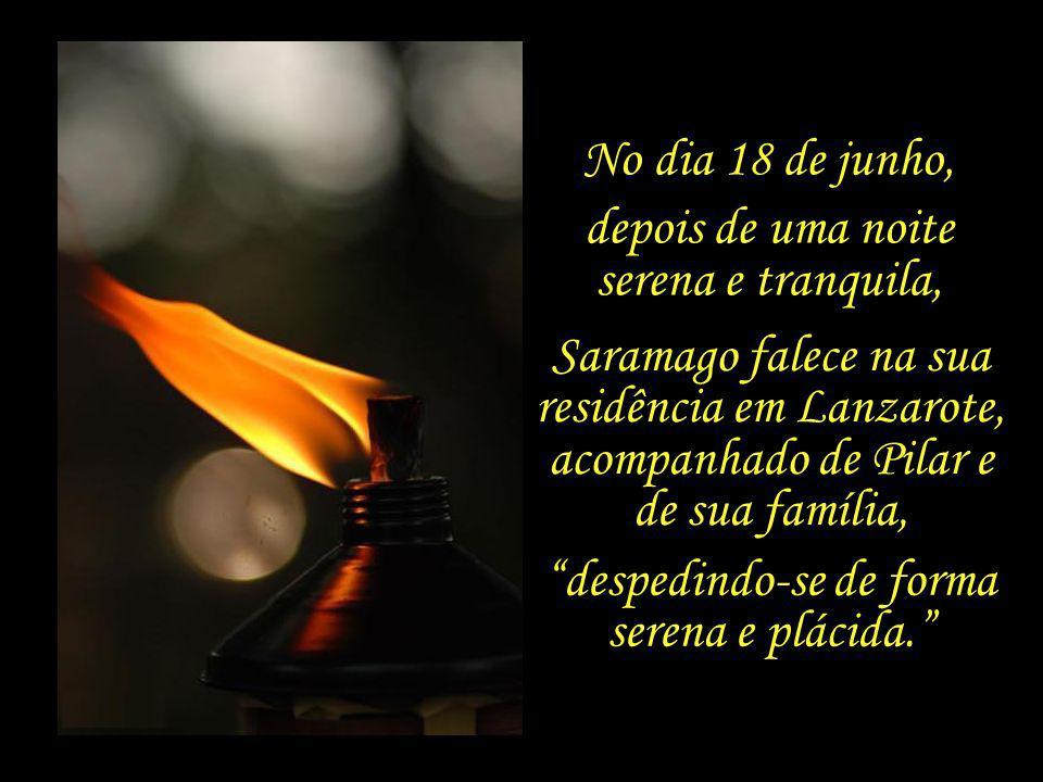 Ele está aqui e não está, mas sorri....o espírito não vai a lado nenhum sem as pernas do corpo, José Saramago (em Todos os Nomes) e o corpo não seria