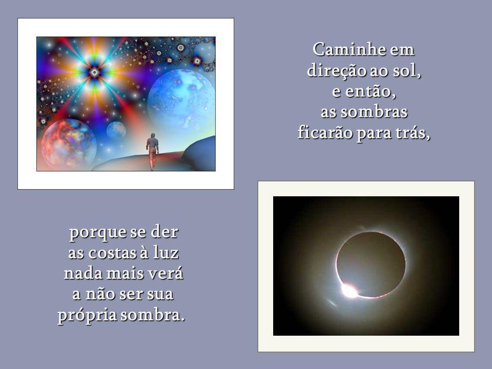A essência divina habita os corações, não os templos e igrejas e é dentro deles que existe um universo de paz. um universo de paz. O homem estará no c