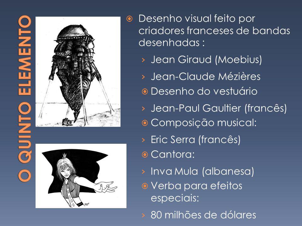 Desenho visual feito por criadores franceses de bandas desenhadas : Jean Giraud (Moebius) Jean-Claude Mézières Desenho do vestuário Jean-Paul Gaultier (francês) Composição musical: Eric Serra (francês) Cantora: Inva Mula (albanesa) Verba para efeitos especiais: 80 milhões de dólares