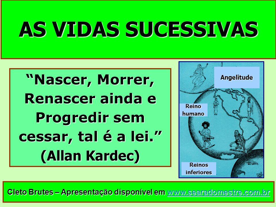 AS VIDAS SUCESSIVAS Cleto Brutes – Apresentação disponível em www.searadomestre.com.br www.searadomestre.com.br Nascer, Morrer, Renascer ainda e Progr