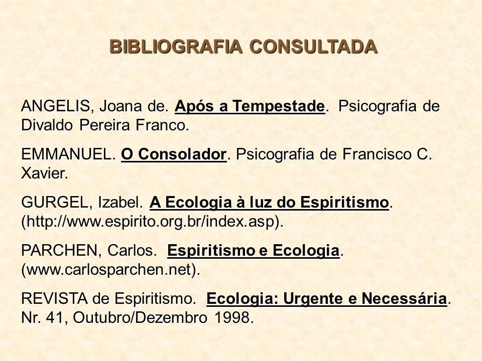BIBLIOGRAFIA CONSULTADA ANGELIS, Joana de.Após a Tempestade.