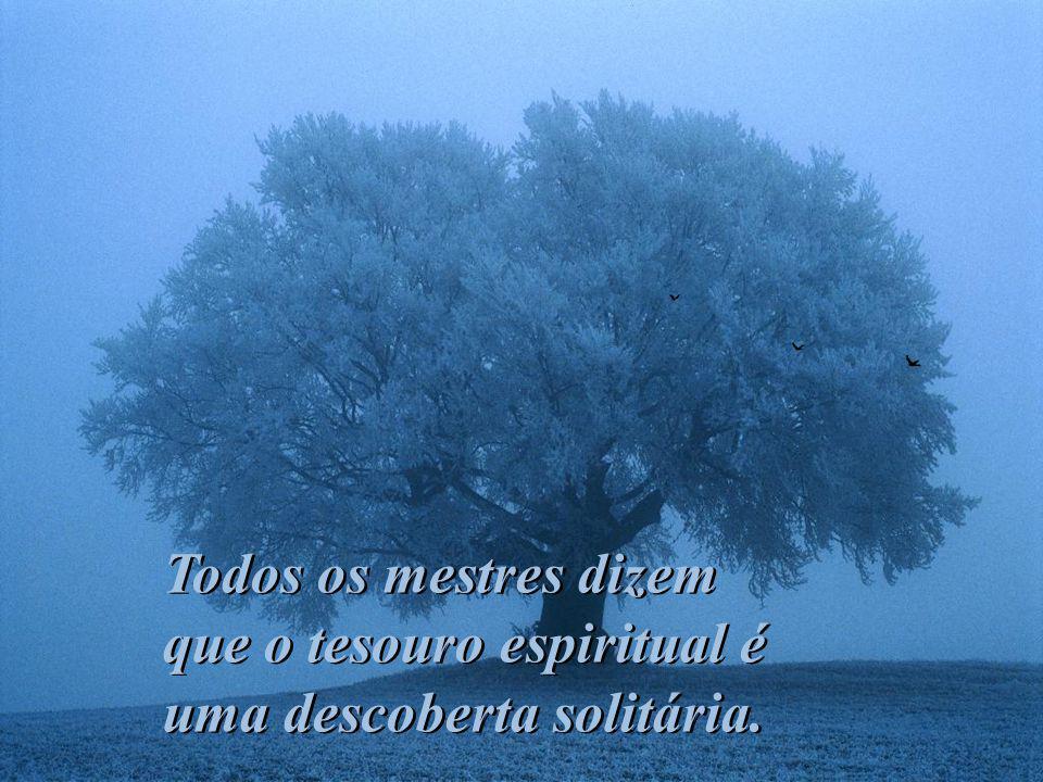 Todos os mestres dizem que o tesouro espiritual é uma descoberta solitária.