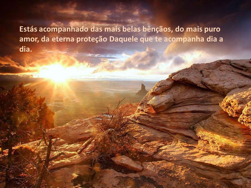 Estás acompanhado das mais belas bênçãos, do mais puro amor, da eterna proteção Daquele que te acompanha dia a dia.