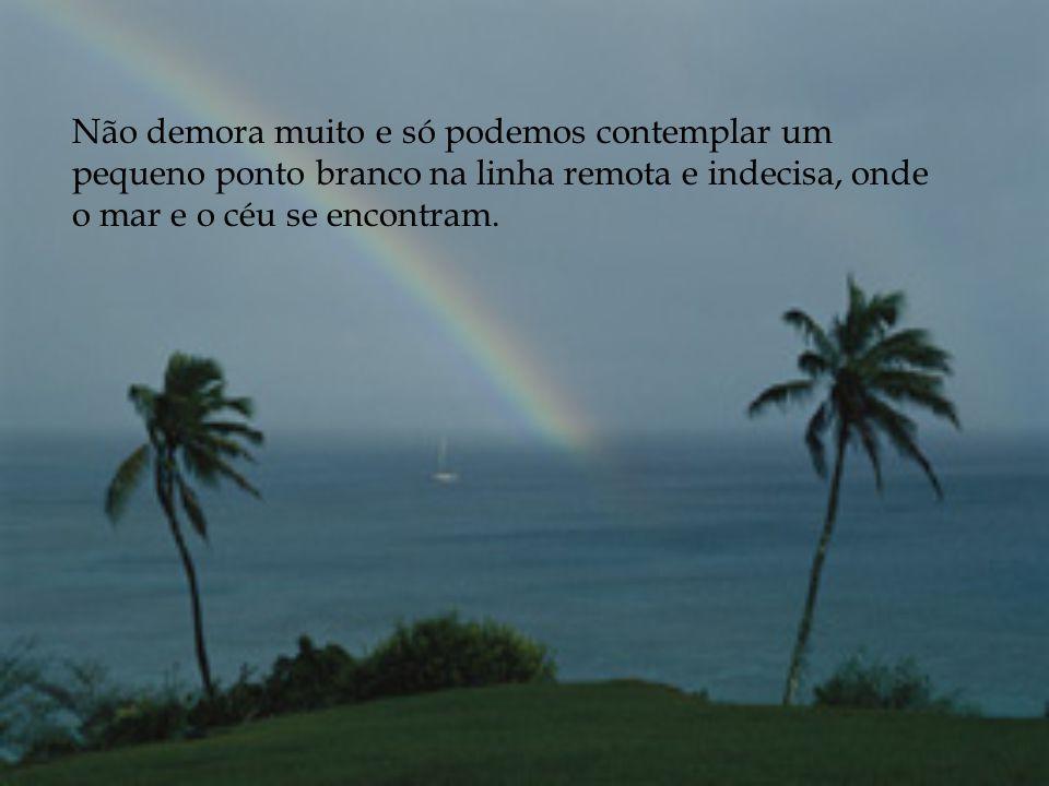Henry Sobel, por ocasião da morte de Mário Covas contou a seguinte parábola: Q uando observamos, da praia, um veleiro a afastar-se da costa, navegando