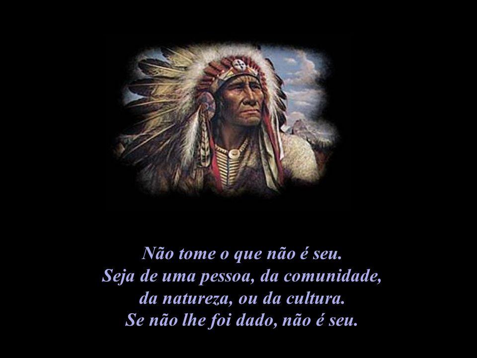 Não tome o que não é seu.Seja de uma pessoa, da comunidade, da natureza, ou da cultura.