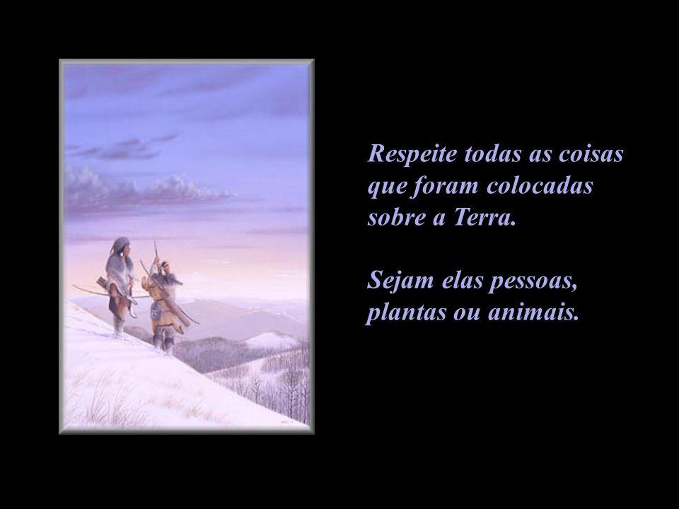 Respeite todas as coisas que foram colocadas sobre a Terra. Sejam elas pessoas, plantas ou animais.