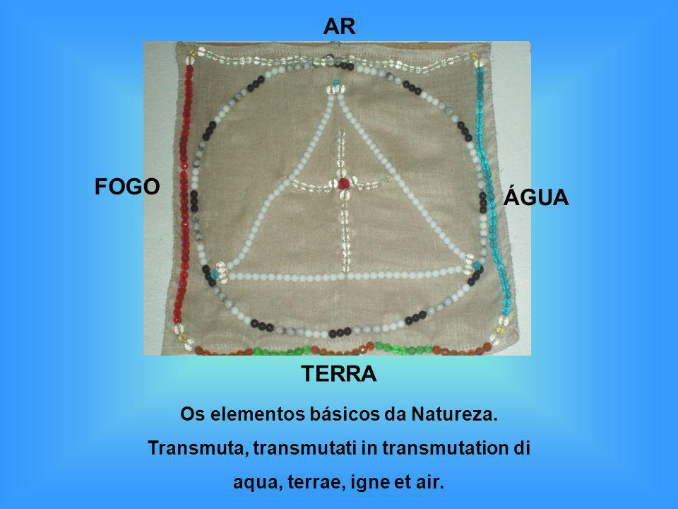 ÁGUA TERRA FOGO AR Os elementos básicos da Natureza. Transmuta, transmutati in transmutation di aqua, terrae, igne et air.