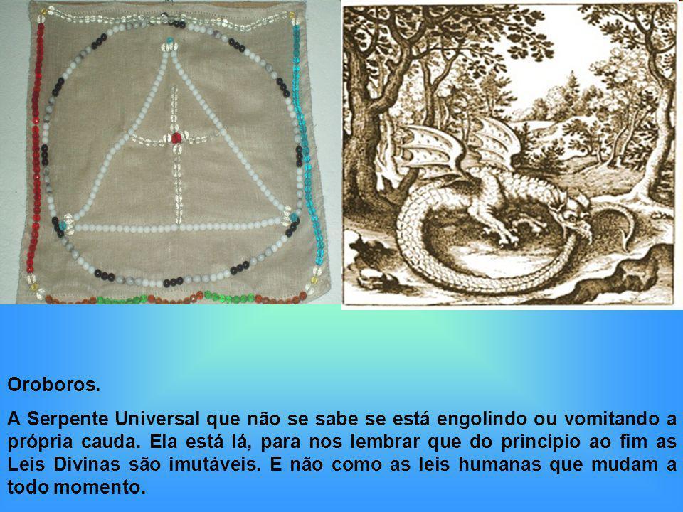 Oroboros. A Serpente Universal que não se sabe se está engolindo ou vomitando a própria cauda. Ela está lá, para nos lembrar que do princípio ao fim a