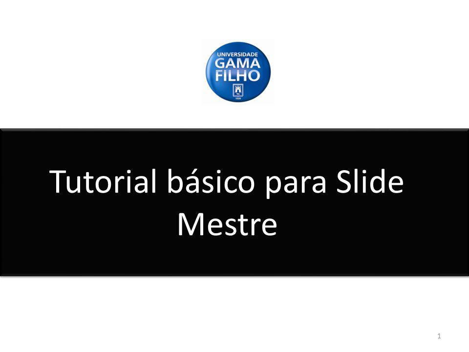 Passo à passo 2.2 22 Para criar um novo Slide Mestre temos que clicar com o botão direito do mouse no campo de Slides, apertar em Novo Slide