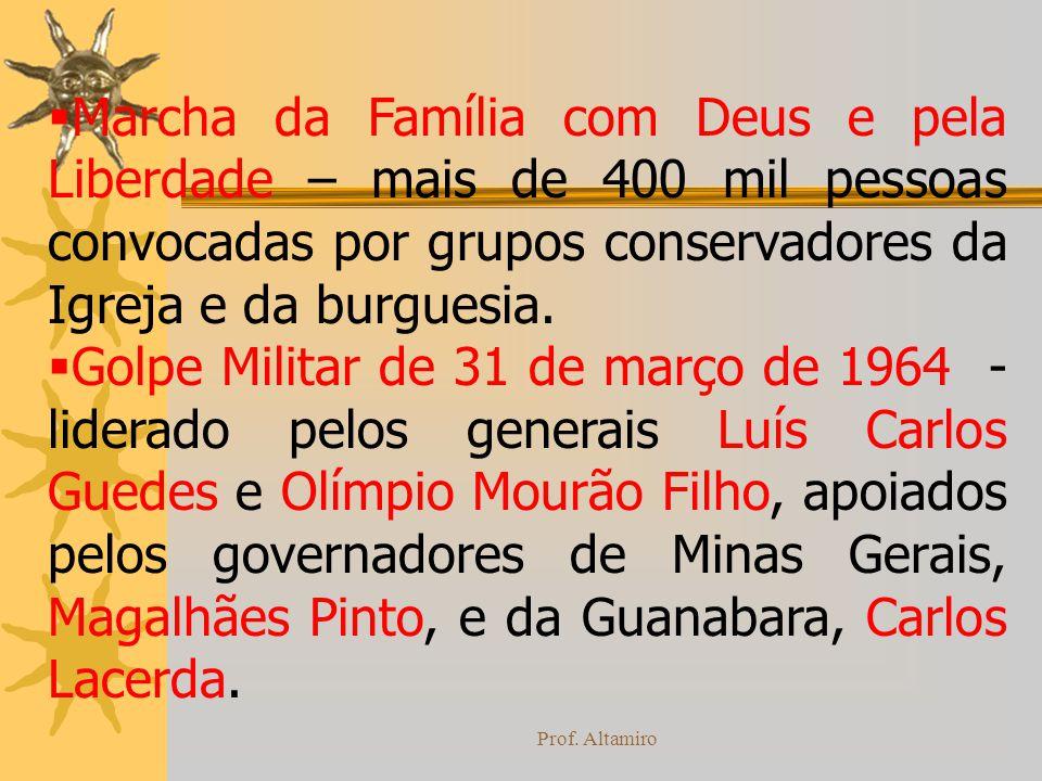 Prof. Altamiro Marcha da Família com Deus e pela Liberdade – mais de 400 mil pessoas convocadas por grupos conservadores da Igreja e da burguesia. Gol