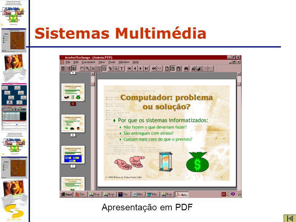DSC/CEEI/UFCG Apresentação em PDF Sistemas Multimédia