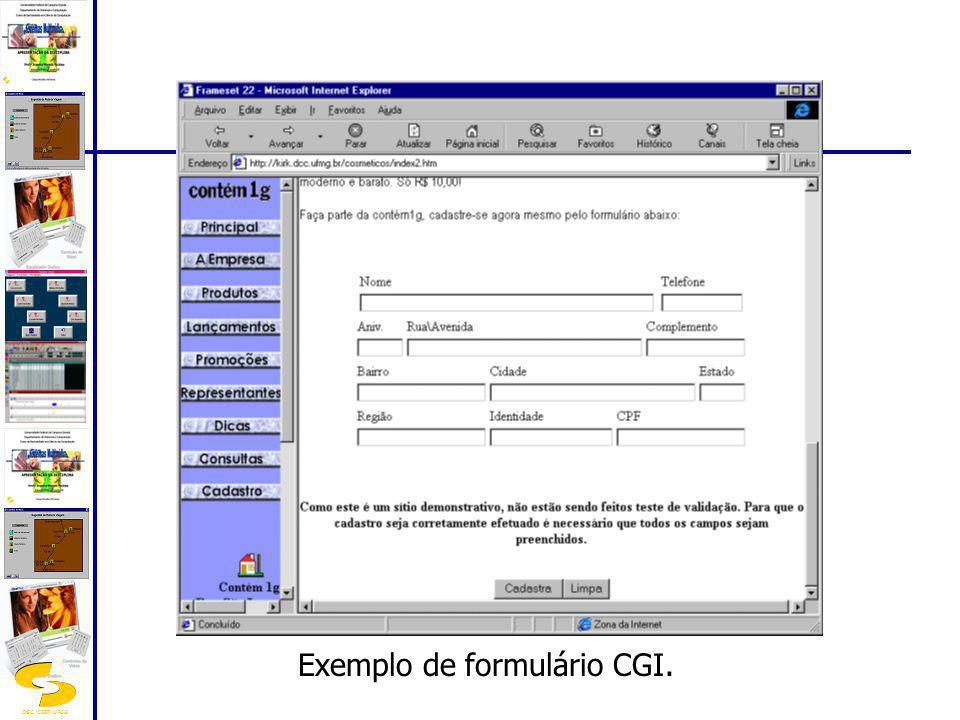 DSC/CEEI/UFCG Exemplo de formulário CGI.