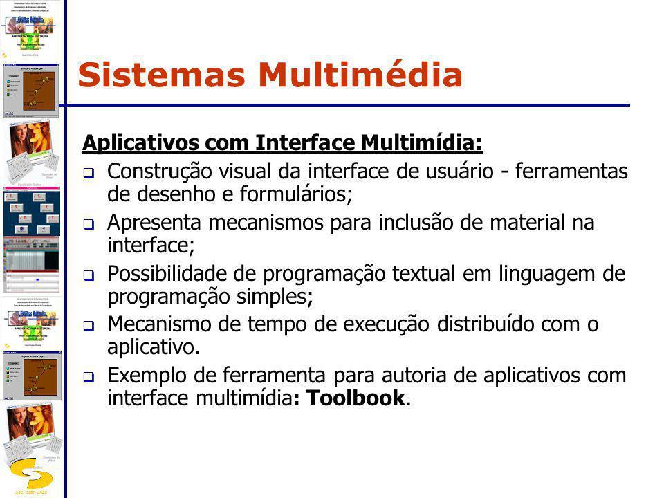 DSC/CEEI/UFCG Aplicativos com Interface Multimídia: Construção visual da interface de usuário - ferramentas de desenho e formulários; Apresenta mecani