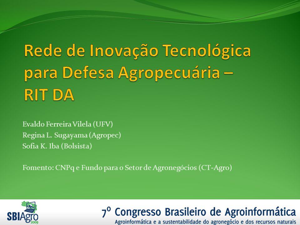 Evaldo Ferreira Vilela (UFV) Regina L. Sugayama (Agropec) Sofia K. Iba (Bolsista) Fomento: CNPq e Fundo para o Setor de Agronegócios (CT-Agro)