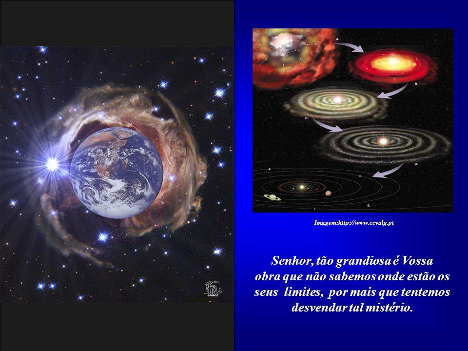 O sistema solar está em harmonia com outros semelhantes dentro da nossa Galáxia, que também não é única. Imagem:http://www.ccvalg.pt