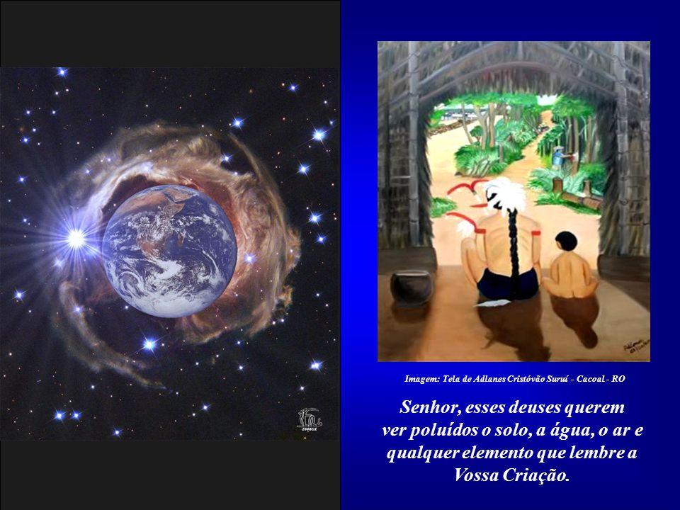 Os outros deuses exigem de nós a pilhagem dos recursos naturais, como se fôssemos uma última geração aqui na Terra. Imagem:http://acertodecontas.blog.