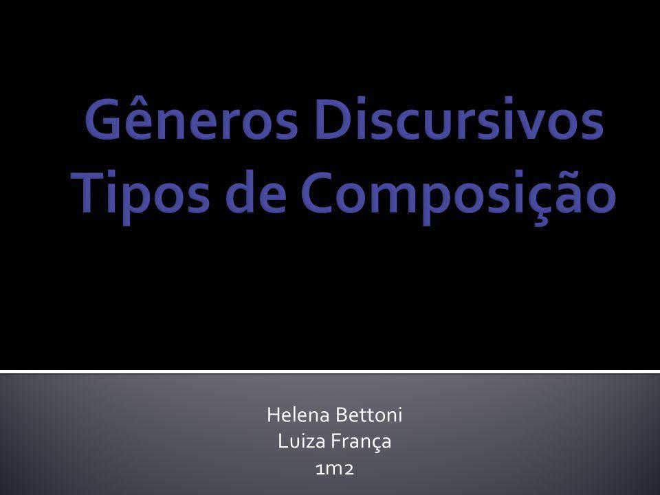 Correspondem a certos padrões de composição de texto determinados pelo contexto em que são produzidos, pelo público a que eles são destinados, por sua finalidade, por seu contexto de circulação, etc.