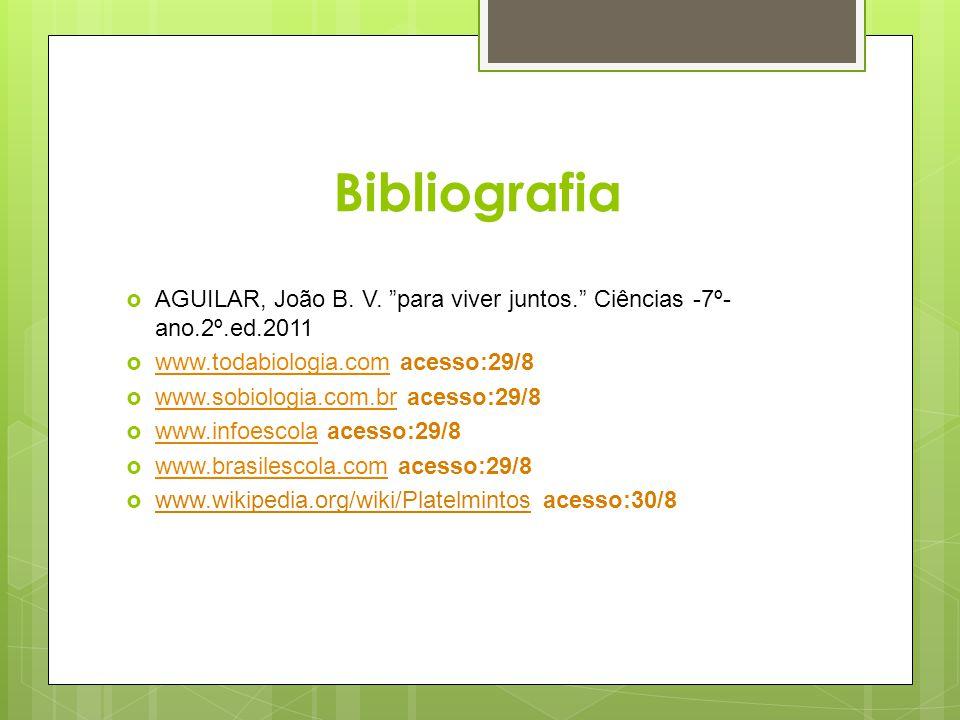 Bibliografia AGUILAR, João B. V. para viver juntos. Ciências -7º- ano.2º.ed.2011 www.todabiologia.com acesso:29/8 www.todabiologia.com www.sobiologia.