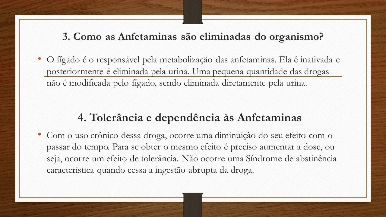 3.Como as Anfetaminas são eliminadas do organismo.