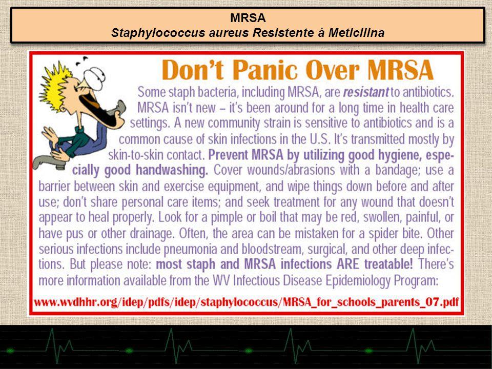 66 MRSA Staphylococcus aureus Resistente à Meticilina MRSA Staphylococcus aureus Resistente à Meticilina