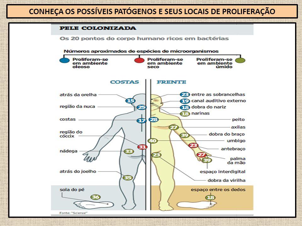 72 CONHEÇA OS POSSÍVEIS PATÓGENOS E SEUS LOCAIS DE PROLIFERAÇÃO