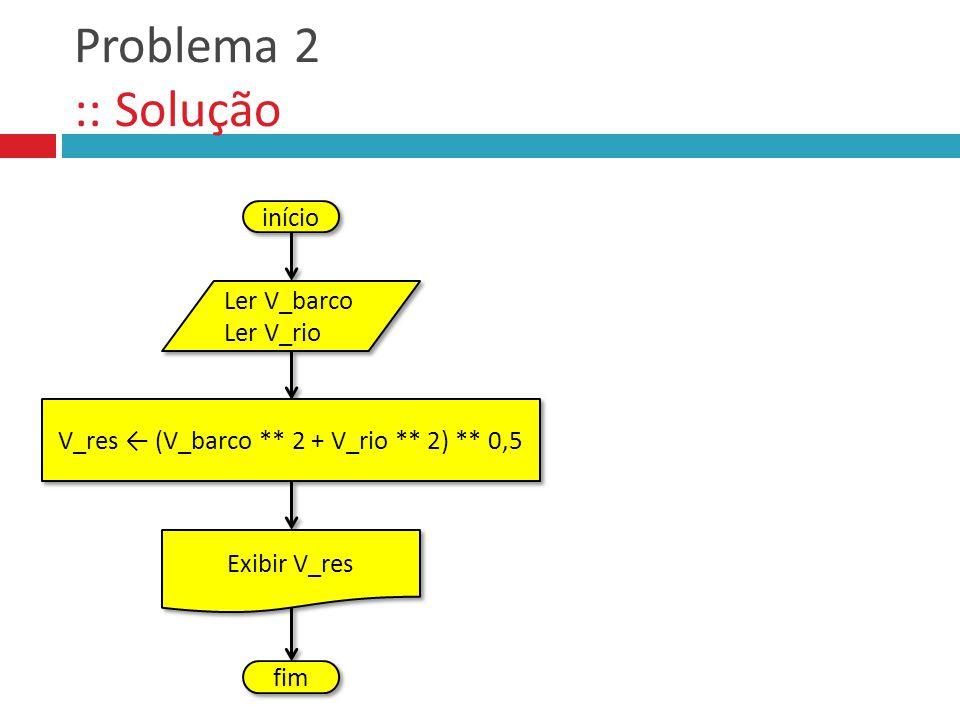 Problema 2 :: Solução início