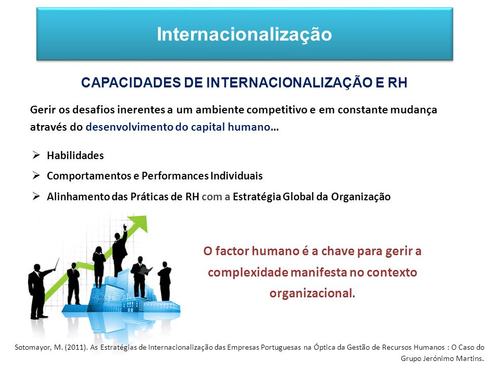 O factor humano é a chave para gerir a complexidade manifesta no contexto organizacional.