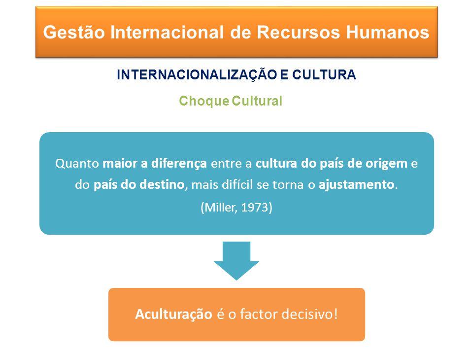 Quanto maior a diferença entre a cultura do país de origem e do país do destino, mais difícil se torna o ajustamento.