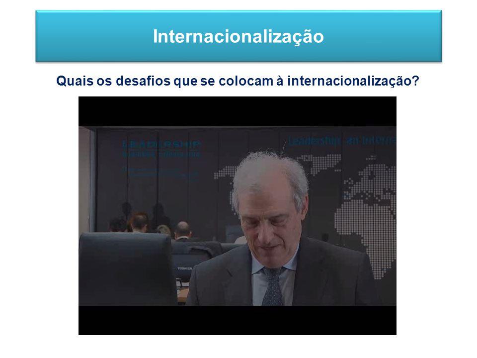 Internacionalização Quais os desafios que se colocam à internacionalização?