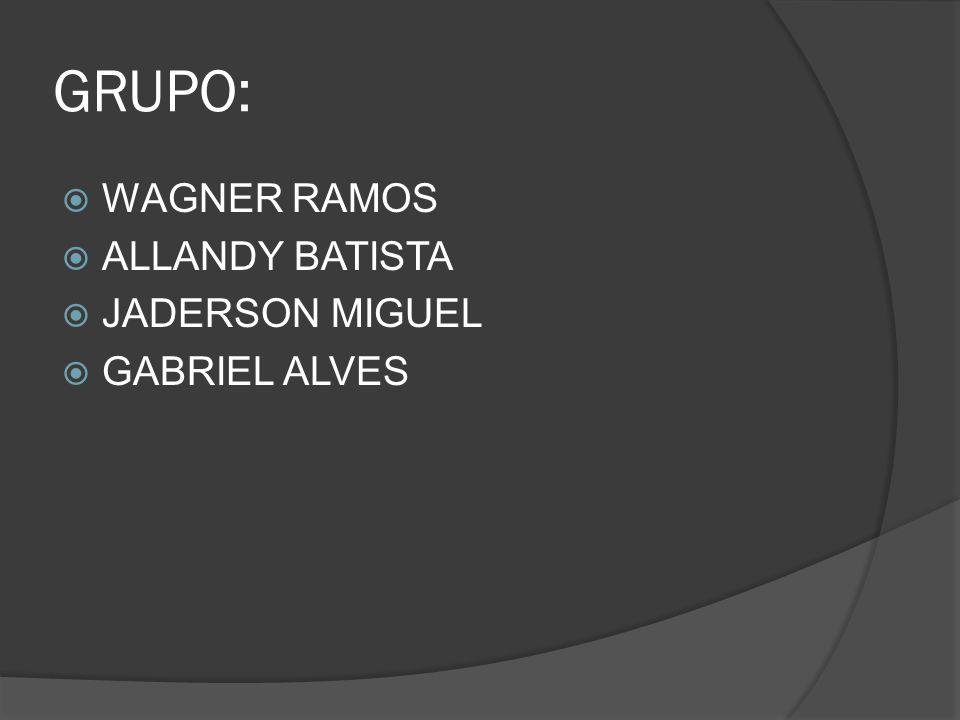 GRUPO: WAGNER RAMOS ALLANDY BATISTA JADERSON MIGUEL GABRIEL ALVES