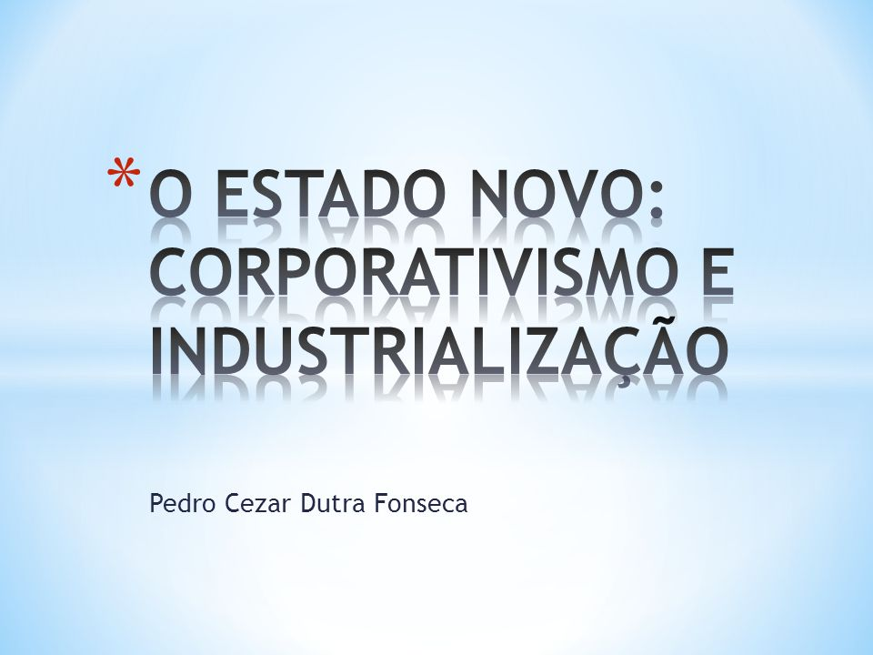 * O sentido do intervencionismo demostra a ênfase dada a Vargas à presença do Estado na regulamentação e coordenação da economia.