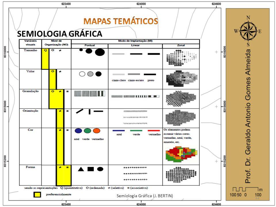 SEMIOLOGIA GRÁFICA Semiologia Gráfica (J. BERTIN) 12