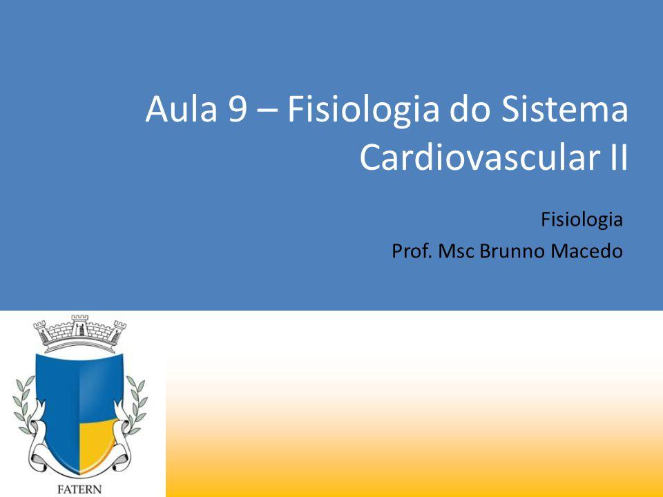 Aula 9 – Fisiologia do Sistema Cardiovascular II Fisiologia Prof. Msc Brunno Macedo