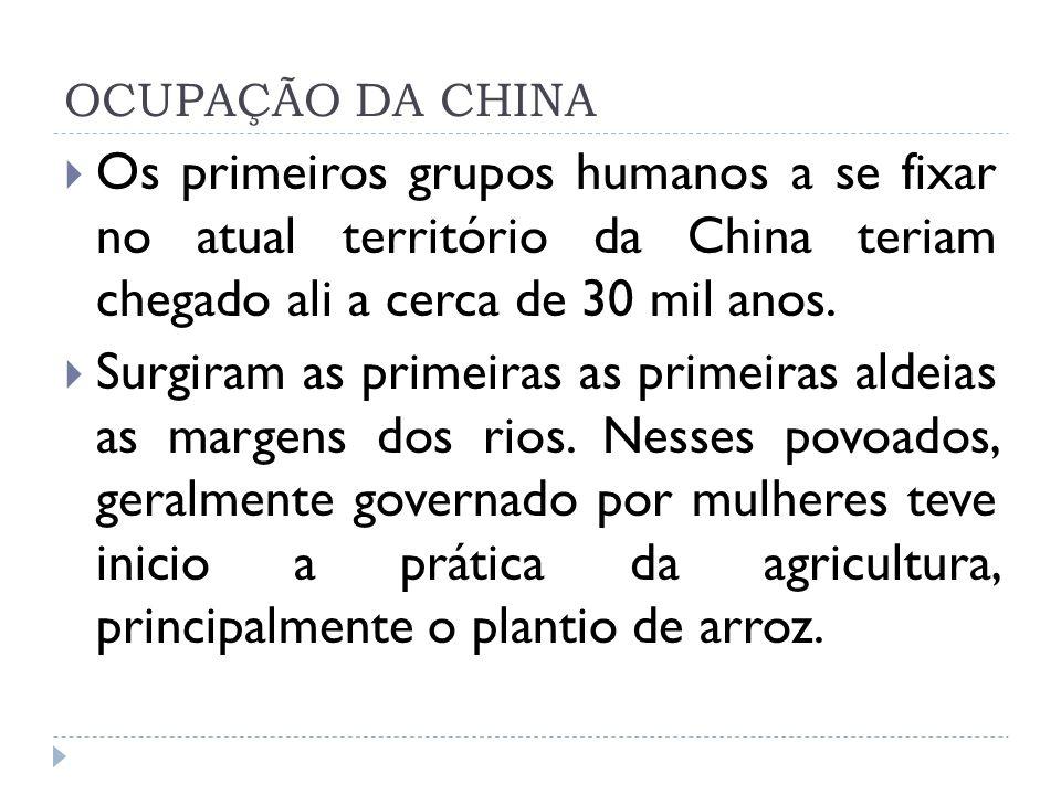 A DISPUTA CHINESA A partir do século V a.C.