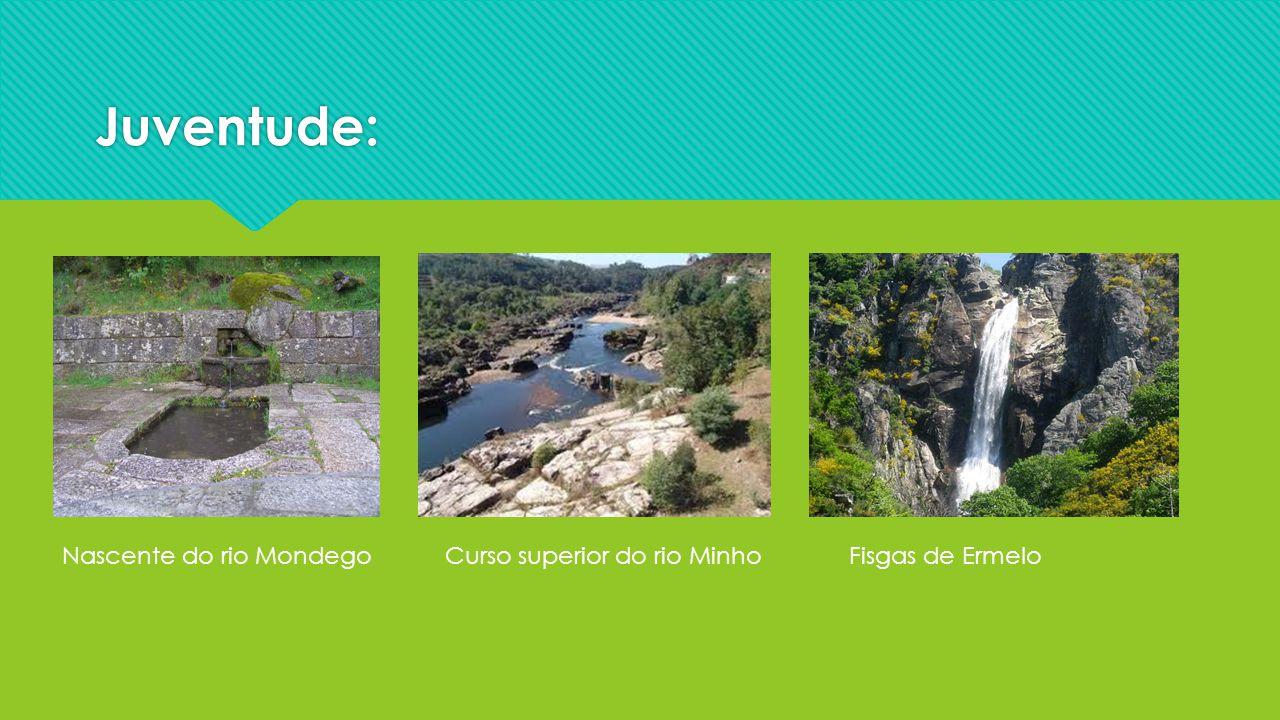 Juventude: Nascente do rio MondegoFisgas de ErmeloCurso superior do rio Minho