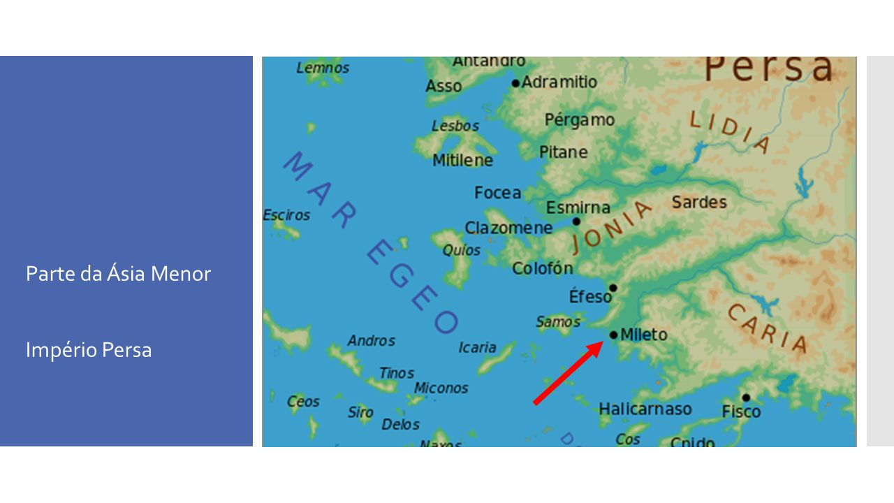 Mapa da Grécia moderna